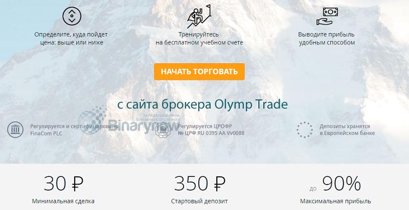 Рейтинг бинарных опционов олимп трейд